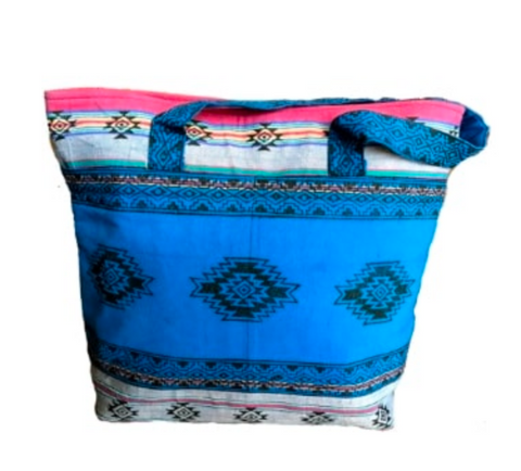 Tote Bag with Blockprint Designs