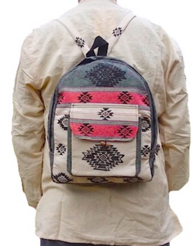 Cotton Small Rounded Top Backpack