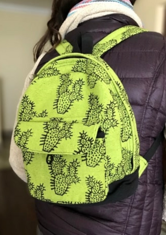 Cotton Blockprint Small Backpack