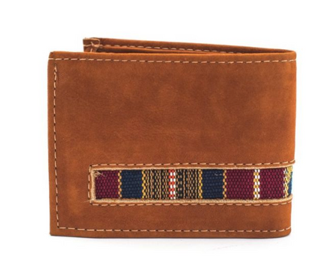 Leather and Ikat Wallet