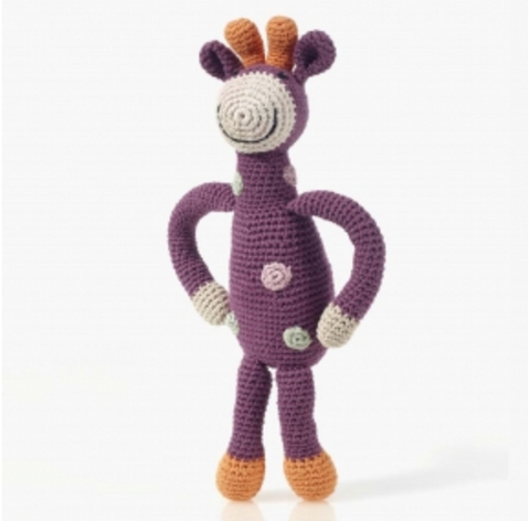 Purple Giraffe Rattle Toy