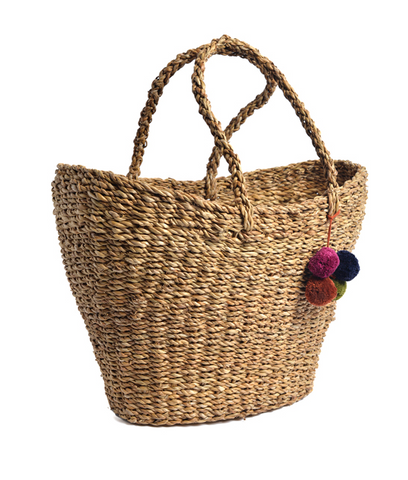 Pom Pom Shopping Basket
