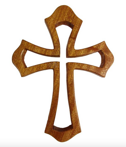 Contoured Wood Cross Small
