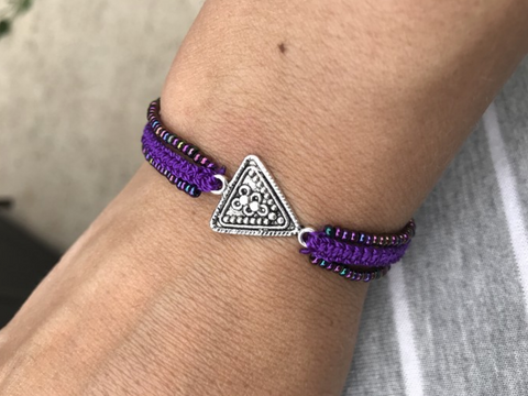 Triangle Three Strand Bracelet