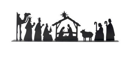 Iron Silhouette Nativity