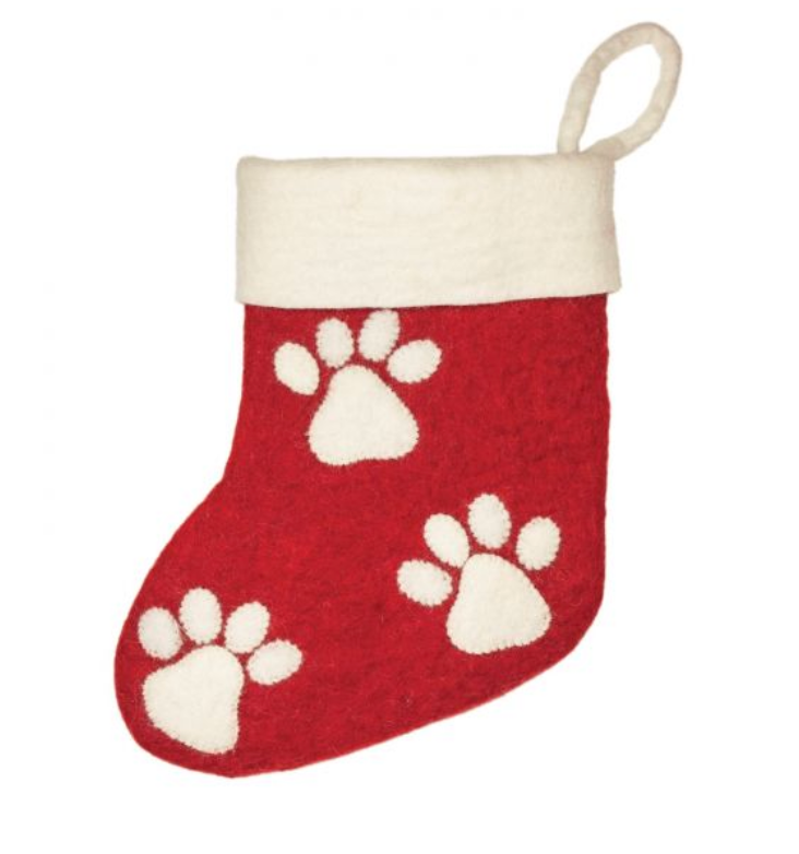 Paw Print Stocking