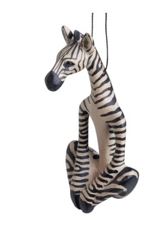 Zebra Yoga Ornament