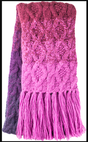 Pom Knitted Scarf