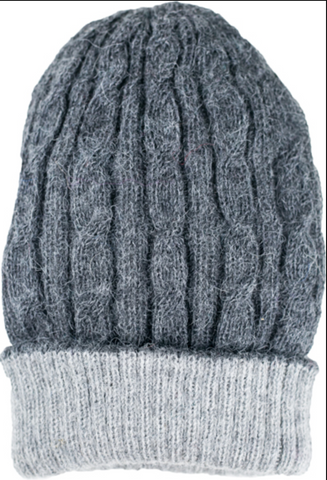 Reversible Cable Knit Beanie Hat