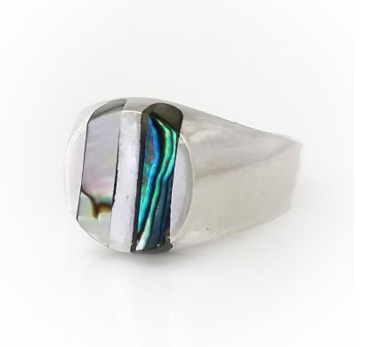 Men's Inlaid Silver Ring