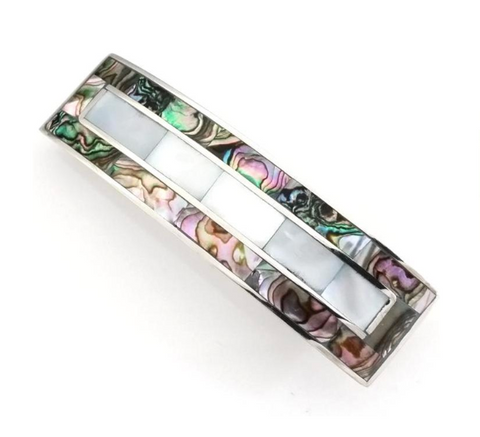 Abalone & Mother of Pearl Barrette
