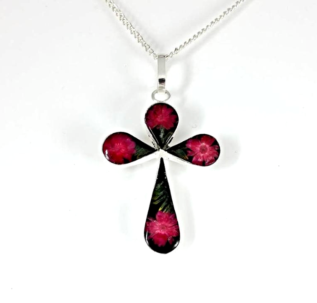 Wildflower Inlaid Necklaces