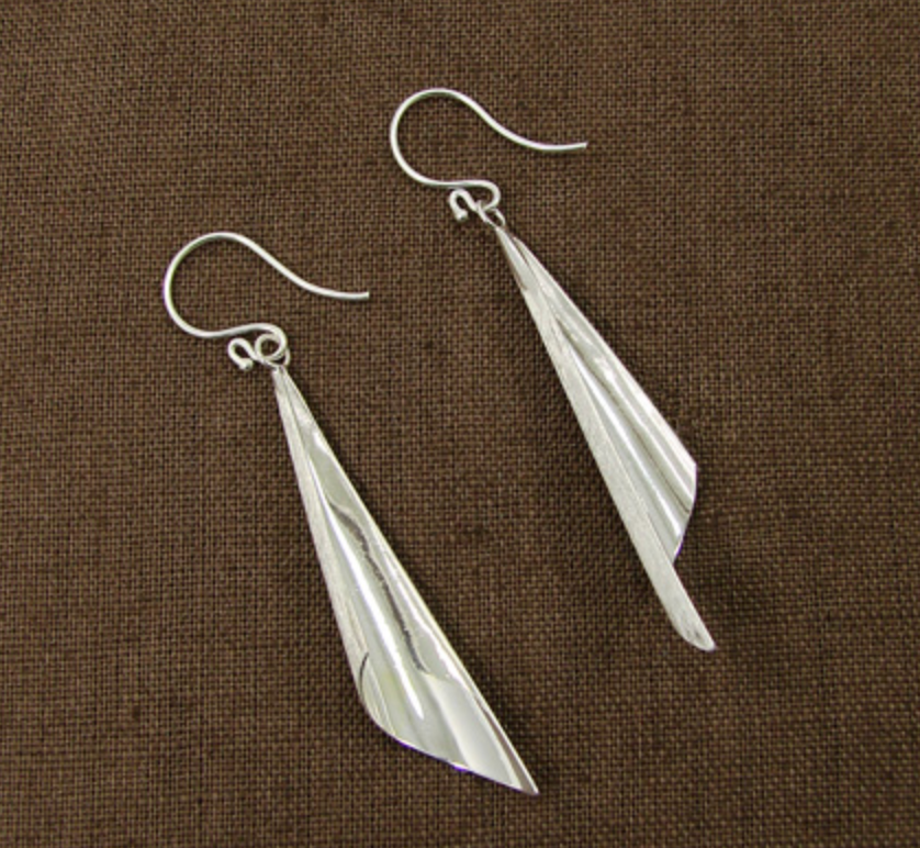 Silver Conical Earrings