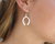 Brushed Horseshoe Drop Earrings