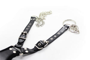 Leather Hand Foot Cuffs With Chain BDSM Bondage Fetish Erotic Toys - Sex toys  Huge dick anal Plugs XnxxToys.com