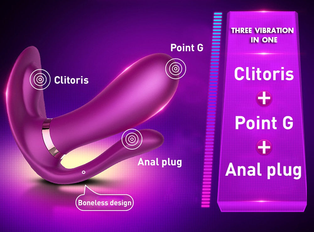 Wearable Vibrator With Wireless Control G Spot Clitoral Stimulator