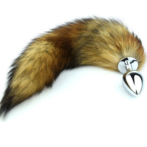 Stainless Steel Faux Fur Animal Tail Butt Plug. - Sex toys  Huge dick anal Plugs XnxxToys.com