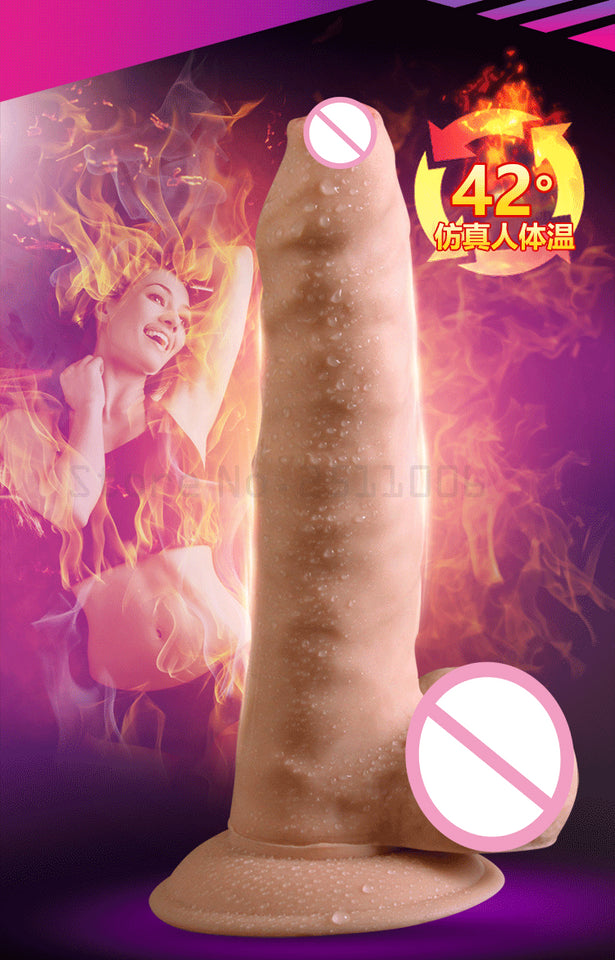 Heating Vibrating For Skin huge dick Suction Cup Realistic Penis - Sex toys  Huge dick anal Plugs XnxxToys.com