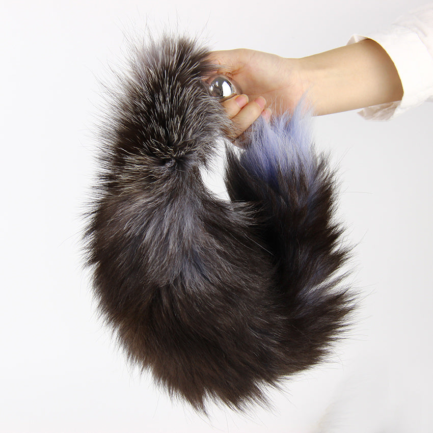 Stainless Fluffy Faux Fur Tail Animal Tail Butt Plug. - Sex toys  Huge dick anal Plugs XnxxToys.com