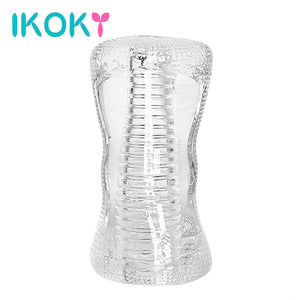 IKOKY Masturbation Cup Sex Toys for Men Transparent Vagina Adult Products Penis Trainer Delay Ejaculation Male Masturbator - Sex toys  Huge dick anal Plugs XnxxToys.com