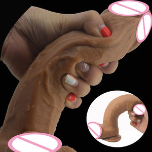 Double Layer Silicone Realistic huge dick Horse Soft Huge Penis Suction. - Sex toys  Huge dick anal Plugs XnxxToys.com