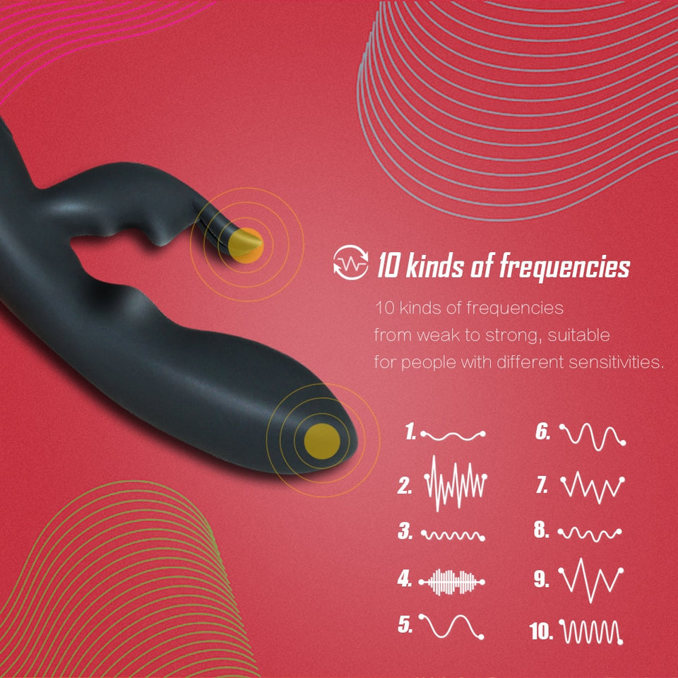 Rabbit Vibrator 10 Modes G Spot Vagina Shocker Sex Product USB Rechargeable - Sex toys  Huge dick anal Plugs XnxxToys.com