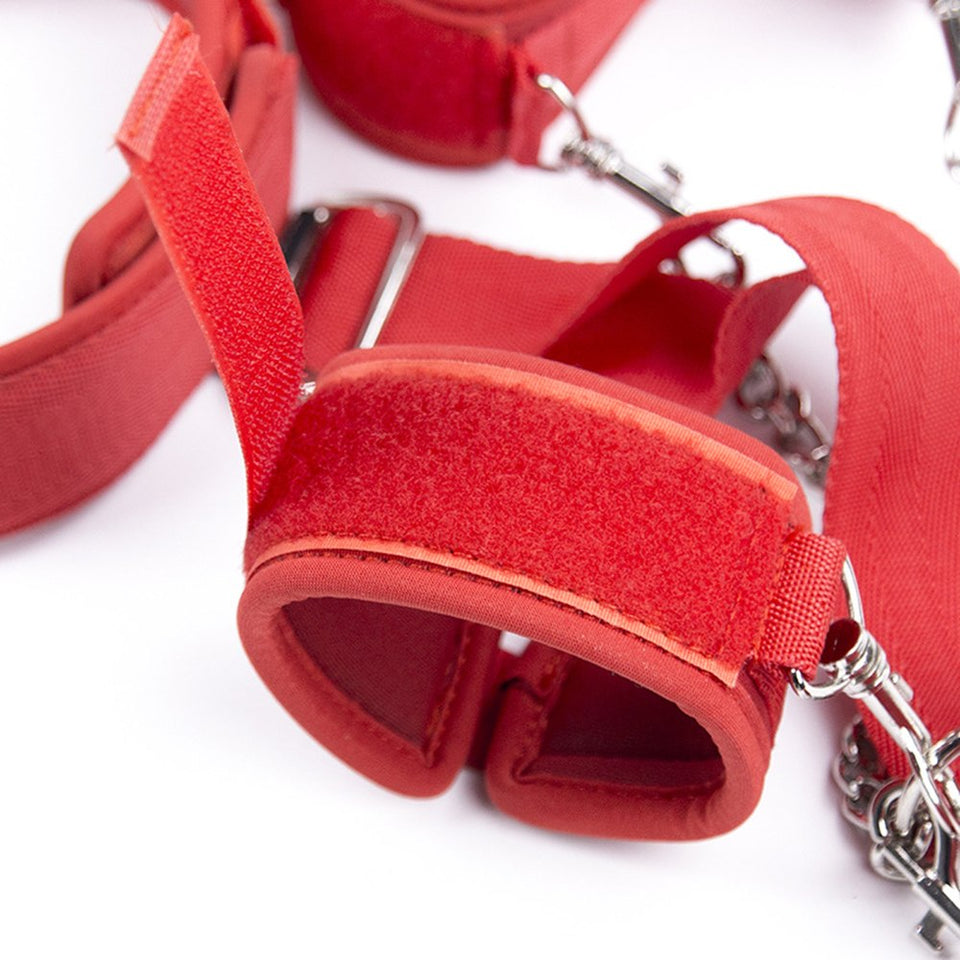 Full-body Restraint In A Snap Fetish Foot Neck Collars Hand Cuffs Bondage. - Sex toys  Huge dick anal Plugs XnxxToys.com