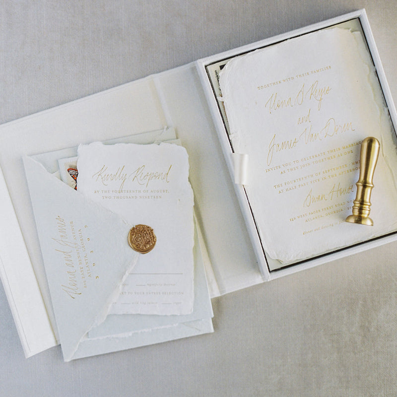 Linen Invitation Box & Folios