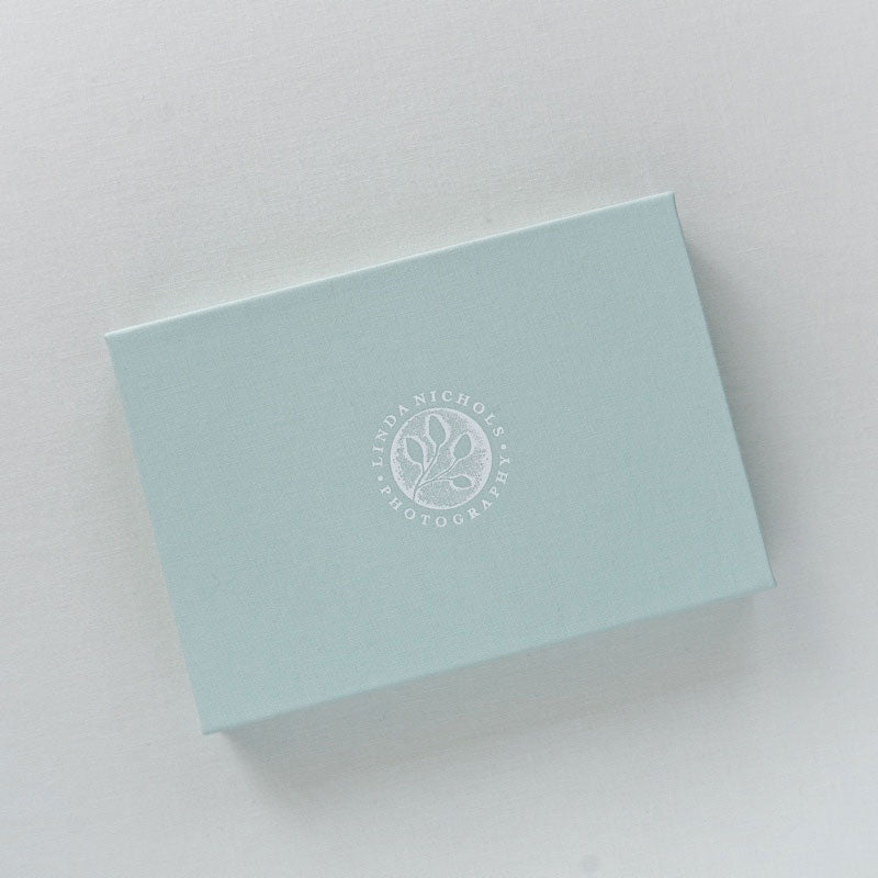 logo imprinted_usb box_seafoam