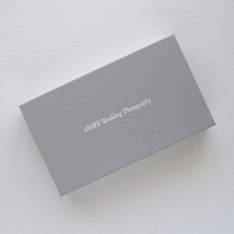 logo imprinted_print box with usb_linen stone