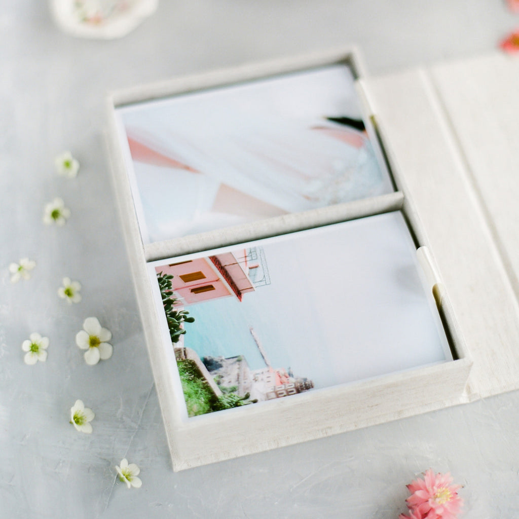 4x6 Double linen photo box
