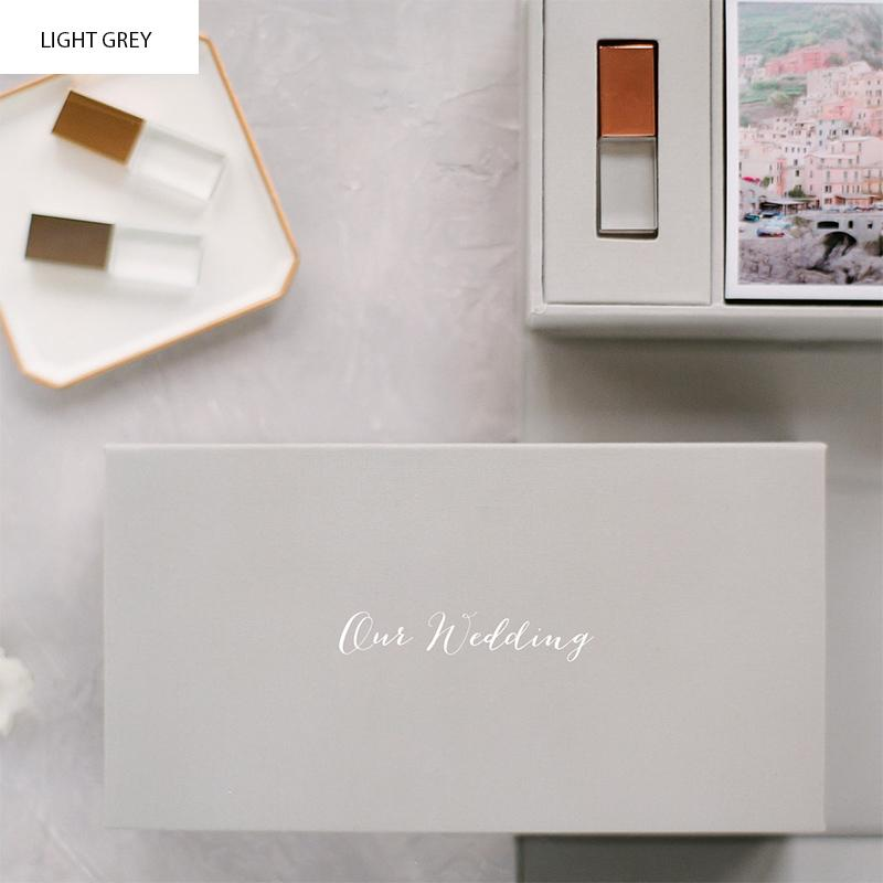 Custom Linen Photo & USB Box