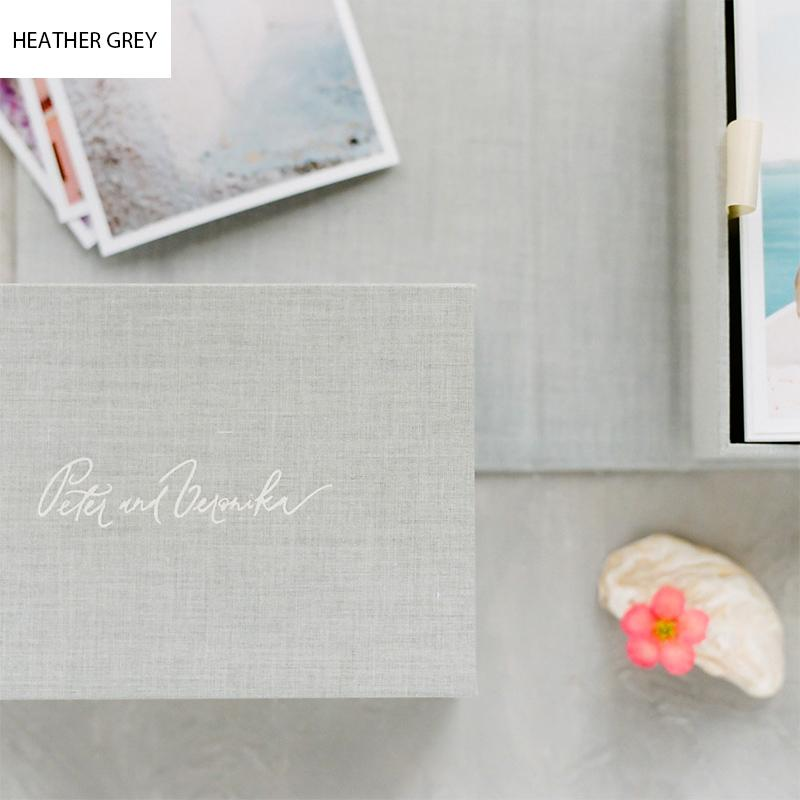 Custom Double Linen Photo & USB Box