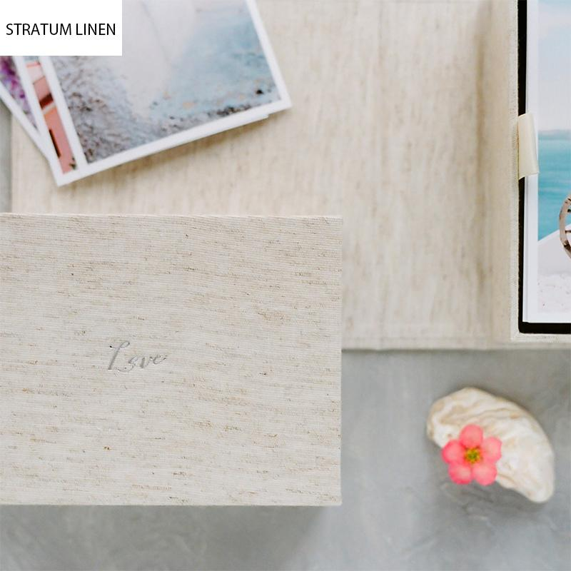 Custom Linen Photo Box