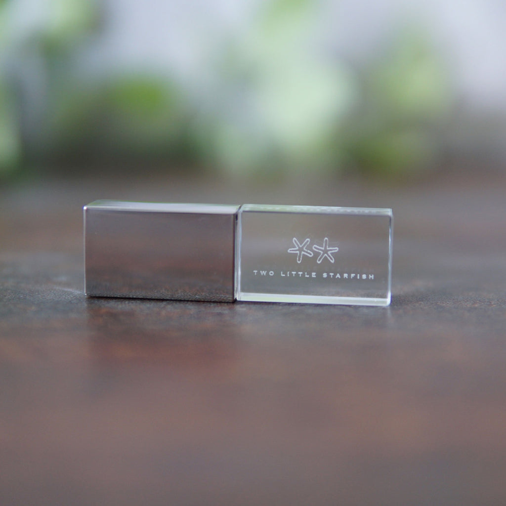 custom crystal usb -silver