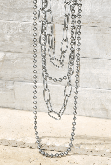 Contemporary Multi Layered Necklace