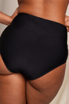 High Waist Recycled Black Bikini Bottoms