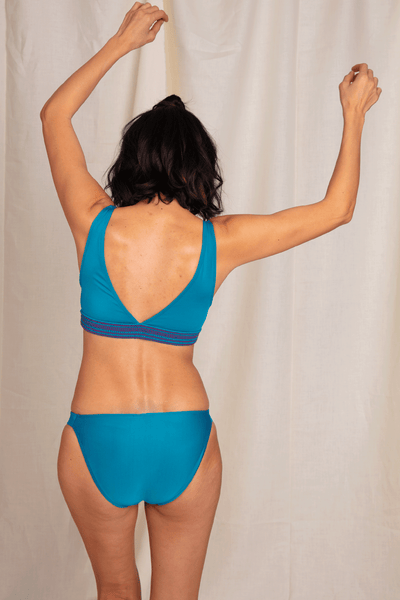Blue Swimsuit Bottom - Recycled Swimsuit