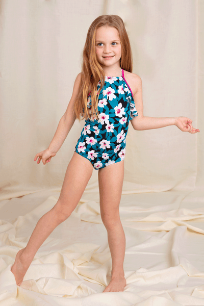Teal One Piece for Girls | Recycled Swimwear