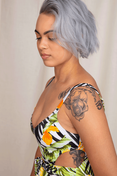 Sustainable One Piece | Palm Court Floral