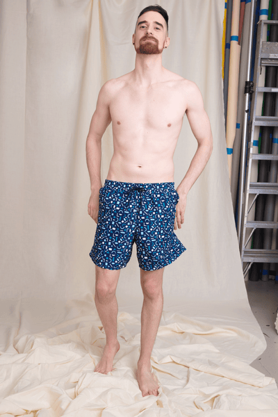 Mesh Lined Swim Trunks with Pockets