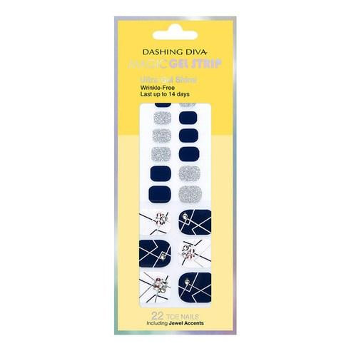Aritaum Dashing Diva Magic Gel Strip Bling Bling White & Navy Dgst76P