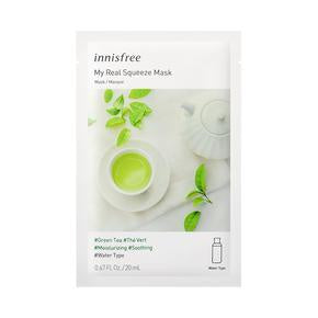 Innisfree My Real Squeeze Mask - Green Tea EX 20mL (NEW)
