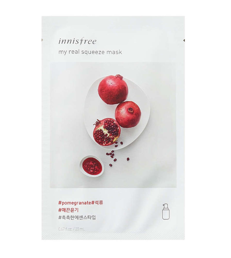 Innisfree My Real Squeeze Mask _ Pomegranate 20ml