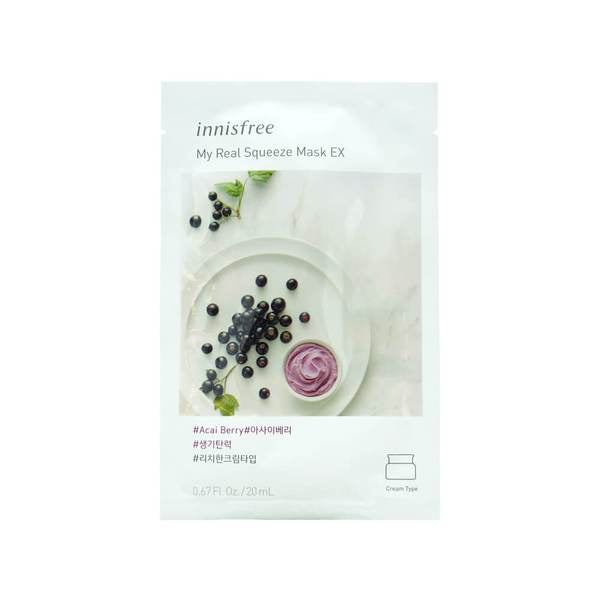 Innisfree My Real Squeeze Mask - Asai Berry EX 20mL (NEW)