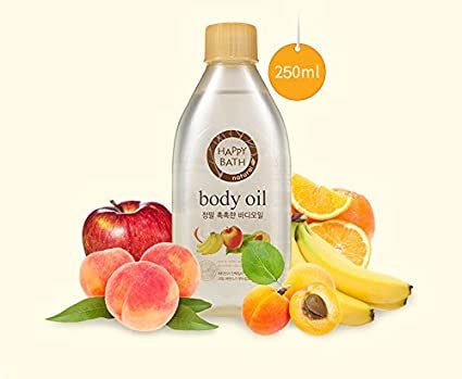 Happy Bath Natural Real Moisture Body Oil 250ml