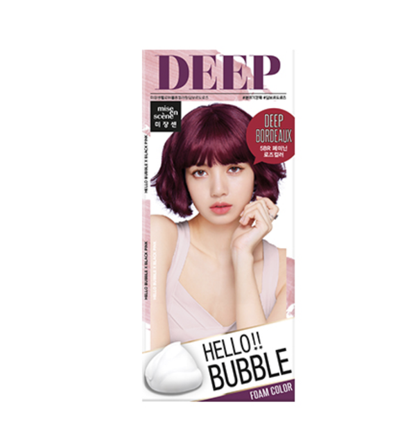 Mise en Scene Hello Bubble Foam Hair Color- 5BR Deep Bordeaux 30G