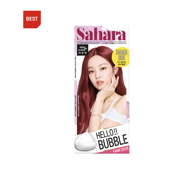 Mise en Scene Hello Bubble Foam Hair Color- 7P Sahara Rose Pink