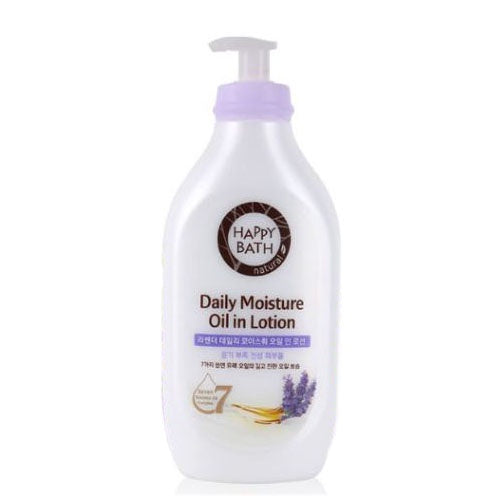 Happy Bath Daily Moisture Oil in Lotion Lavender 450ml
