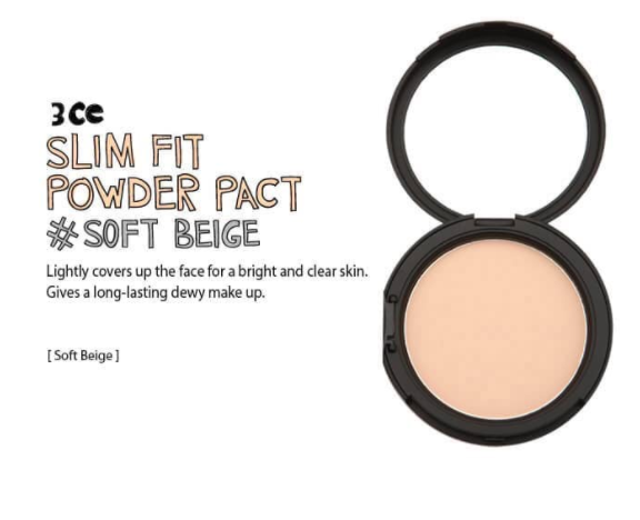 3CE SLIM FIT POWDER PACT#soft beige